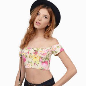 Floral T-Shirt Crop Top